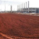 Construção do Pátio da Gol